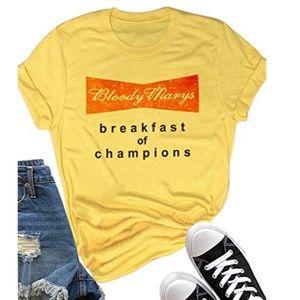 Bloody Marys Breakfast Of Champions Yellow Tee